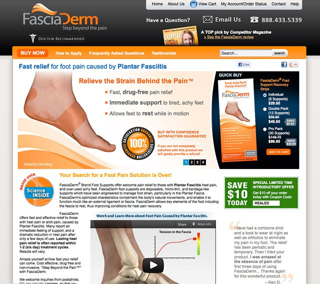 FasciaDerm Foot Supports