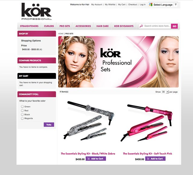 KOR Professional (Product Page)
