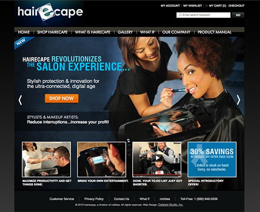 hairEcape Home page