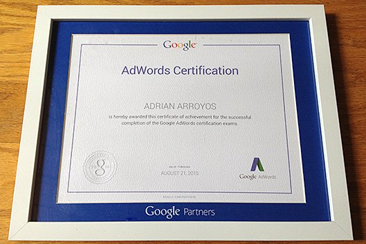 Yup, We're Google AdWords Certified
