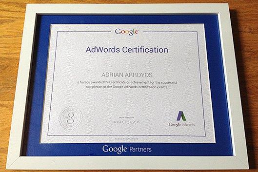 Yup, We're Google AdWords Certified